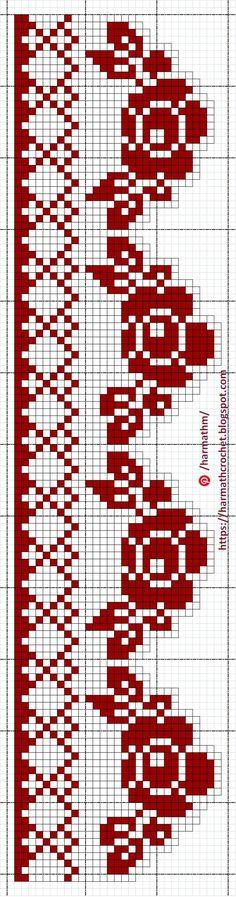 Filet Crochet, Crochet Doilies, Knit Crochet, Fair Isle Knitting Patterns, Crochet Patterns, Cross Stitch Embroidery, Cross Stitch Patterns, Yarn Thread, Cross Stitch Flowers
