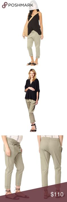 """HATCH Ipek Maternity pants Super cute maternity pants! Perfect to wear during and after pregnancy. You will be looking stylish with hear great pants that have a twist waist sash, side slant pockets and elasticized rear waist. Approximate measurements rise 9.75"""", inseam 25"""". Hatch Pants"""