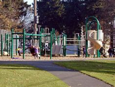 Mt Tabor - an extinct volcano in the middle of a neighborhood with a playground at the top.