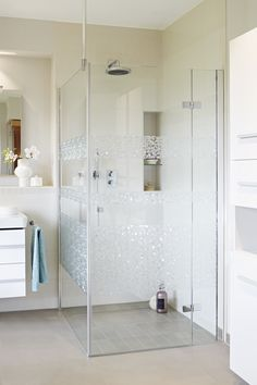 """d-c-fix® static cling window stripes """"Hope"""" provide a contemporary look to plain glass. Pre-cut film in various widths, easy to apply, no adhesive. Can be used on shower cubicles or as glass awareness safety panels for large expanses of glass."""