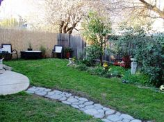 Exterior:Appealing Diy Backyard Ideas With Garden Ideas Feat Stepping Stones And Coffee Table Sets Then Trees Also Small Backyard Ideas And Backyard Landscaping Ideas Making Your Best Backyard with the Fresh Backyard Ideas Small Backyard Landscaping, Landscaping Ideas, Backyard Ideas, Garden Ideas, The Fresh, Stepping Stones, Sidewalk, Trees, Exterior
