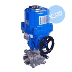"Electric Actuated Economy 3 Piece Stainless Steel Ball Valve with Handwheel. Sizes 1/4"" to 4"" from only £185.60"