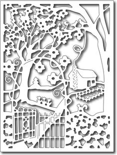 Frantic Stamper Precision Die - Spring Cottage in the Wildwoods Card panel