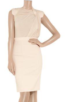 12 Days of Holiday Dresses - Antonio Berardi Wool and Stretch-Jersey Dress