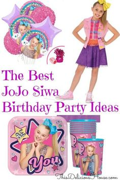 Host a FUN JoJo Birthday party for your little girl! JoJo Siwa Birthday Party complete guide with decorations, ideas, clothes, party favors, and menu. #jojosiwa #jojosiwabirthdayparty Birthday Party Menu, Trolls Birthday Party, Barbie Birthday Party, Frozen Birthday Party, Unicorn Birthday Parties, Birthday Fun, Birthday Party Decorations, Party Favors, Birthday Ideas