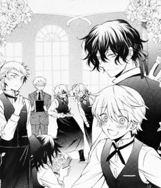 elliot nightray leo baskerville jun mochizuki pandora hearts Gilbert Nightray oz vessalius xerxes break Vincent Nightray Reim Lunettes