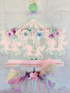 Carousel Party Carousel Birthday Carousel by MemoryKeepsakeParty