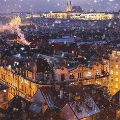 A fun and social women's lifestyle destination dedicated to style, entertainment, love, and living beautifully. World Travel Guide, Travel Guides, Prague Winter, Visit Prague, Prague Czech Republic, Paris Skyline, Travel Destinations, Scenery, Entertainment