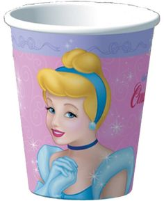 Amscan Pretty Little Princess Baby Shower Party Supply Paper Cups 9 oz Pink//Green//Purple 589457