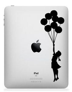 Banksy Balloon iPad,iPad 2,iPad 3 Decal Sticker