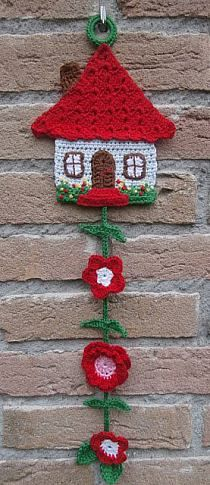 Free Honeymoon Cottage Potholder: Easy Crochet Pattern for a Pot Holder See more at: www. Crochet Potholders, Crochet Motifs, Easy Crochet Patterns, Cross Stitch Patterns, Crochet Garland, Crochet Decoration, Crochet Simple, Cute Crochet, Crochet Home