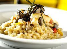 Risoto de arroz arbóreo integral