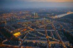 London Aerial Photo: Overhead Pimlico and Battersea Power Station and the River Thames by Jason Hawkes