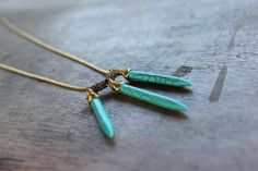 Three Points - Balance Turquoise Necklace