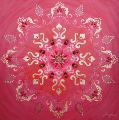 Hand painted Strawberry Mandala