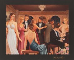 'Party Time' (1930s) by Liana Abrieu - inspiration for our 1930's Shanghai Jazz Club party