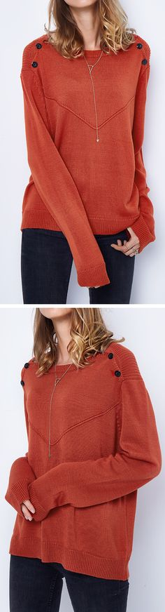 Check it, $27.99 Now! Short Shipping Time! Easy Return + Refund!  Street style meets high quality-New Look Now! This solid color sweater is your must-have piece. Enjoy this fall look at Cupshe.com