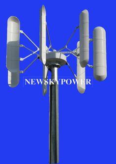 Small Vertical Axis Wind Turbine Generator/Wind Mill/Wind Power/Wind Energy/Wind System (3KW)