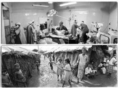 Foto van de bijzondere foto-expositie van het 25-jarig bestaan van Artsen zonder Grenzen. Sarah Flandy