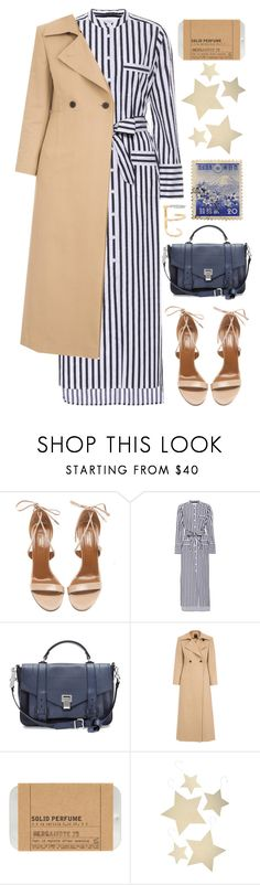 """Navy + Camel"" by cherieaustin ❤ liked on Polyvore featuring Aquazzura, Equipment, Proenza Schouler, Le Labo, Bethany Lowe and Maria Black"