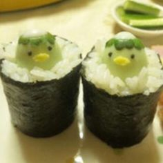 Kappa - The Kappapedia kappamaki かっぱ巻き rolled sushi with cucumber Good Food, Yummy Food, Sushi Art, Bento Recipes, Cute Desserts, Cafe Food, Food Facts, Unique Recipes, Japanese Food