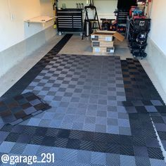 """""""Once I received the tiles, installation was a breeze. I was able to install the bulk of the tiles in a 256 sq ft garage in less than an hour"""" - Chad. Garage Floor Tiles, Tile Floor, Man Cave Garage, Car Garage, Garage Floor Coatings, Garage Organization, Organizing Ideas, Breeze, Home Improvement"""