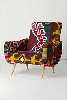 African fabric armchair