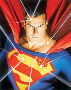 Mythology: Superman - Limited Edition Giclee on Canvas by Alex Ross a fine art poster of bullets bouncing off of Superman's chest.