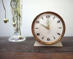 Vintage 1960's West German alarm clock by SAMANTHATENN on Etsy, $25.00