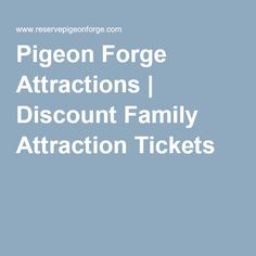 Pigeon forge, Pigeon and Tennessee vacation on Pinterest