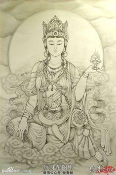 Bhudda Tattoo, Tiger Moms, Chinese Mythology, Buddha Art, Adult Coloring Pages, Buddhism, Ganesha, Black And Grey, Drawings