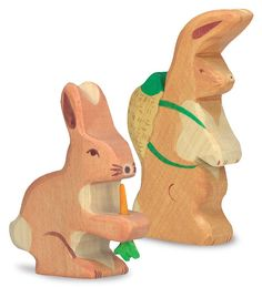 Easter Bunny Wooden Play Figurine in Wooden Toys Wooden Ride On Toys, Wood Toys, Animal Dress Up, Imagination Toys, Easter Gifts For Kids, Dress Up Dolls, Soft Dolls, Easter Bunny, Dinosaur Stuffed Animal