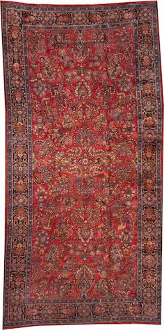 Sarouk carpet  size approximately 8ft. 11in. x 17ft. 11in.