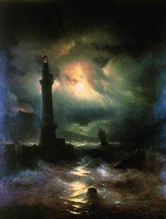 Neapolitan Lighthouse – Ivan Aivazovsky (1842)