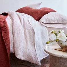 THIS JUST IN: Paisley Relaxed-Linen Bedding The classic look of intricate paisley print meets the soft, textural bliss of Relaxed-Linen Bedding. Our linen is woven in Portugal from premium European flax. It's soft, breathable, and naturally temperature regulating, making it comfortable all year long. Sale Of The Day, Paisley Print, Classic Looks, Linen Bedding, Bliss, Portugal, Bedrooms, Blanket, Furniture
