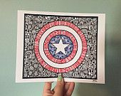Zentangle - Captain America