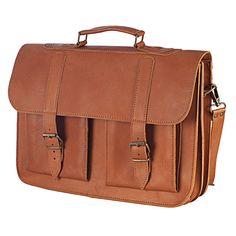 Leather Messenger Bag - 15 inch Laptop Bag -  Leather Breafcase -  Laptop Bag - School Bag in Tobacco Color