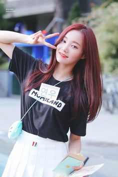 Imagen relacionada - #imagen #relacionada Kpop Girl Groups, Korean Girl Groups, Kpop Girls, Cute Korean Girl, South Korean Girls, Extended Play, Korean Hair Color, Korean Celebrities, Pretty And Cute