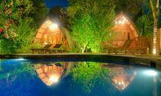 Top 10 budget beach hotels, villas and bungalows in Bali and Lombok. BALI Good Karma Bungalows.
