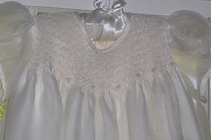Christening gown with smocked bodice | Close up of smocked b… | Flickr