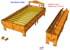 01 Twin Bed N Box wood working plans