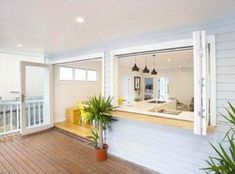 Kitchen servery to Outside Deck - Avalon Northern Beaches - Style Construction. - Kitchen servery to Outside Deck – Avalon Northern Beaches – Style Construction…, BuildingCon - Outdoor Rooms, Outdoor Living, Indoor Outdoor Kitchen, Outdoor Gardens, Casas California, Avalon Beach, Building A Deck, Design Case, Home Renovation