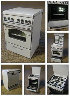 miniature architecture. kitchens and cookers - Artesanía, 5x7,2x5 cm ©2015 por Francisco del Pozo Parés - Realismo, Metal, Arquitectura, cocina rosières, Rosières cooker, cuisinière Rosières, miniature cooker