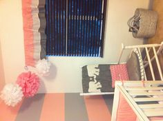 Pink & Gray Baby Girl Nursery