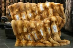 $9K Canadian red fox fur cover. I could never afford this probably EVER. But I love drooling over it right now.