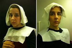 15th Century Flemish Style Portraits Recreated In Airplane Lavatory | Bored Panda