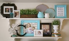A Diamond in the Stuff: Living Room Makeover {Open Shelving}