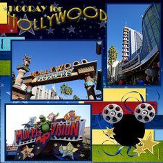 Disney scrapbook- Mickey film cans