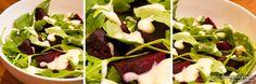 V74: Beet and Arugula Salad with Roasted Garlic Dressing