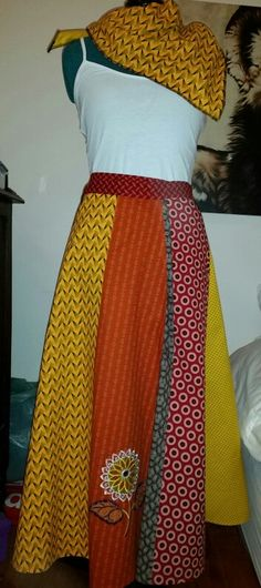 African chic/ ethic/ bohemian wrap skirts in all colours.  guineafowsrock@gmail.com Boutique owners welcome to order